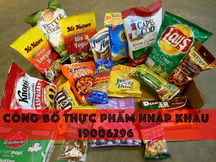 Dịch vụ làm công bố sản phẩm thực phẩm nhập khẩu